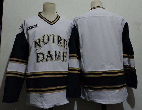 1003e47ea Hot!Mens Custom NCAA Notre Dame Fighting Irish Bauer College Hockey ...