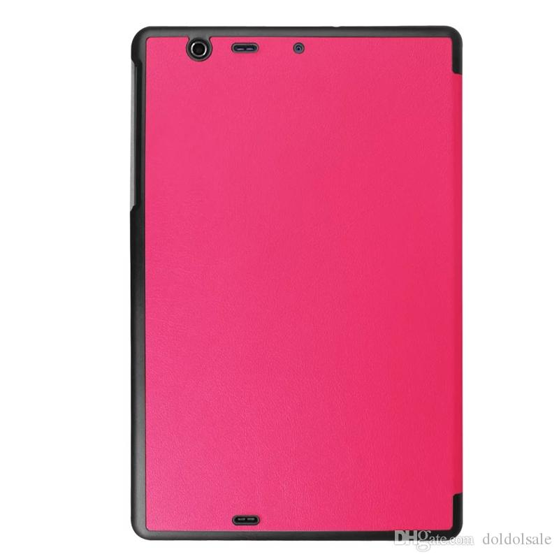 Ultra Thin PU Leather Cover for Kyocera Qua Tab PZ Tablet Case 10.1 inch + Stylus Pen