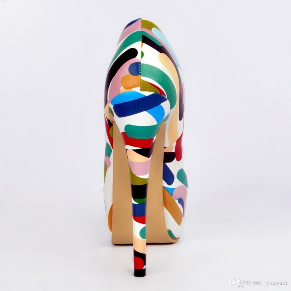 Zandina Whole Sale Femmes Mode À La Main 14.5cm Talons Hauts Plateforme Fleur En Cuir Partie Pompes Chaussures Mixte XD036