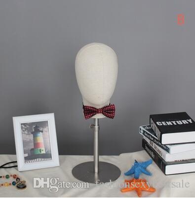 Commercio all'ingrosso 4 stile uomo testa panno testa cappello hoop occhiali negozio di abbigliamento gancio visualizzazione puntelli display cosmetologia manichino la testa 1 PZ B606