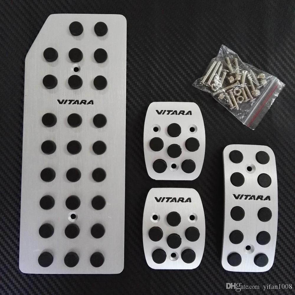 High Quality Non-slip accelerator gas fuel brake foot rest AT/MT pedal pads for Suzuki Grand Vitara,with VITARA logo.