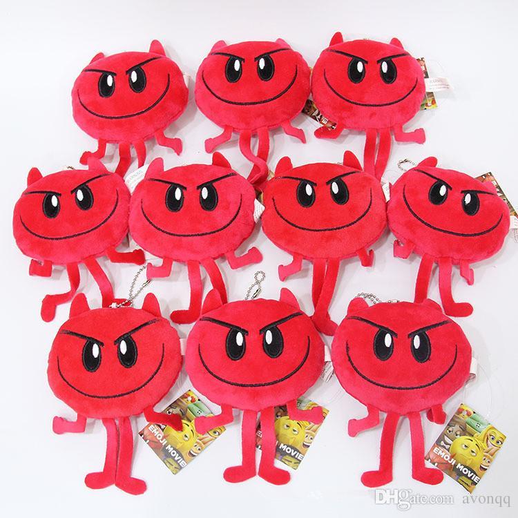 2017 Emoji Film Peluş Oyuncaklar anahtarlıklar Emoji Karikatür Karakter Peluş Oyuncaklar anahtarlık Emoji Dolması Peluş Bebekler anahtarlık Mutlu Yumuşak Oyuncak B548