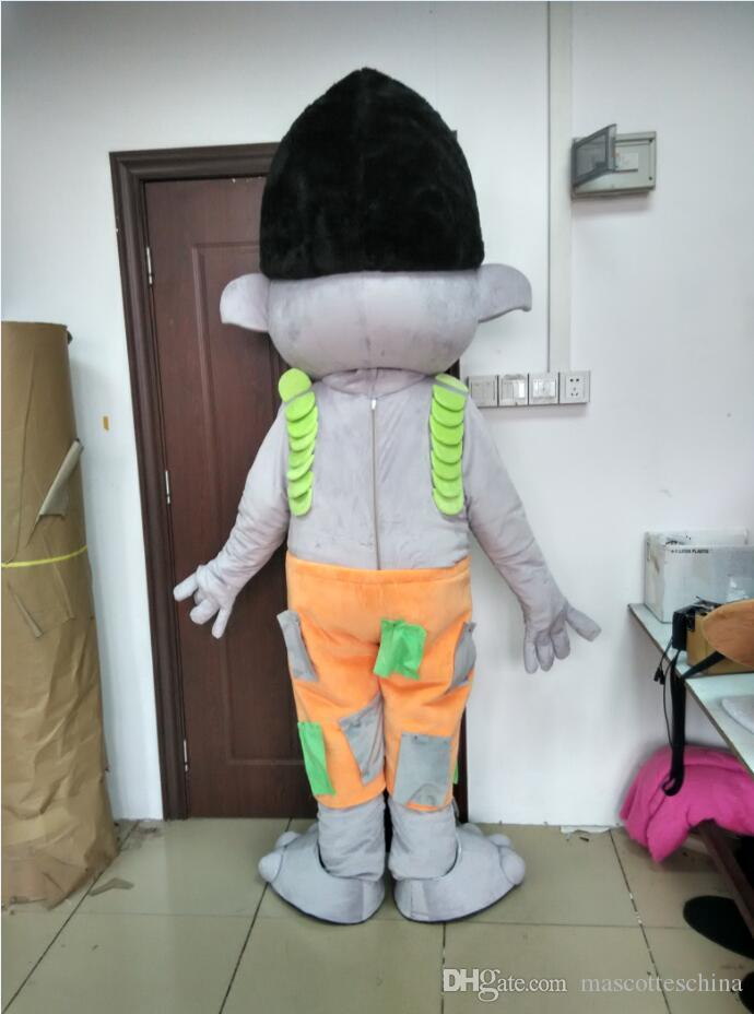 Hot sale Adult trolls mascot costume poppy costume branches mascot costume just like the picture