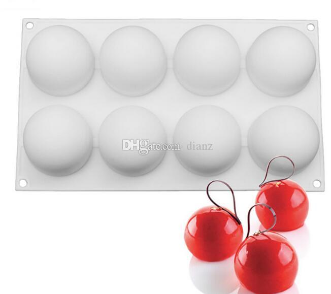 Silicone Truffles Chocolate Cake Mold For Desserts Candy Pastries Non-Stick Pans Cakes Decorating Baking Pan Bakeware
