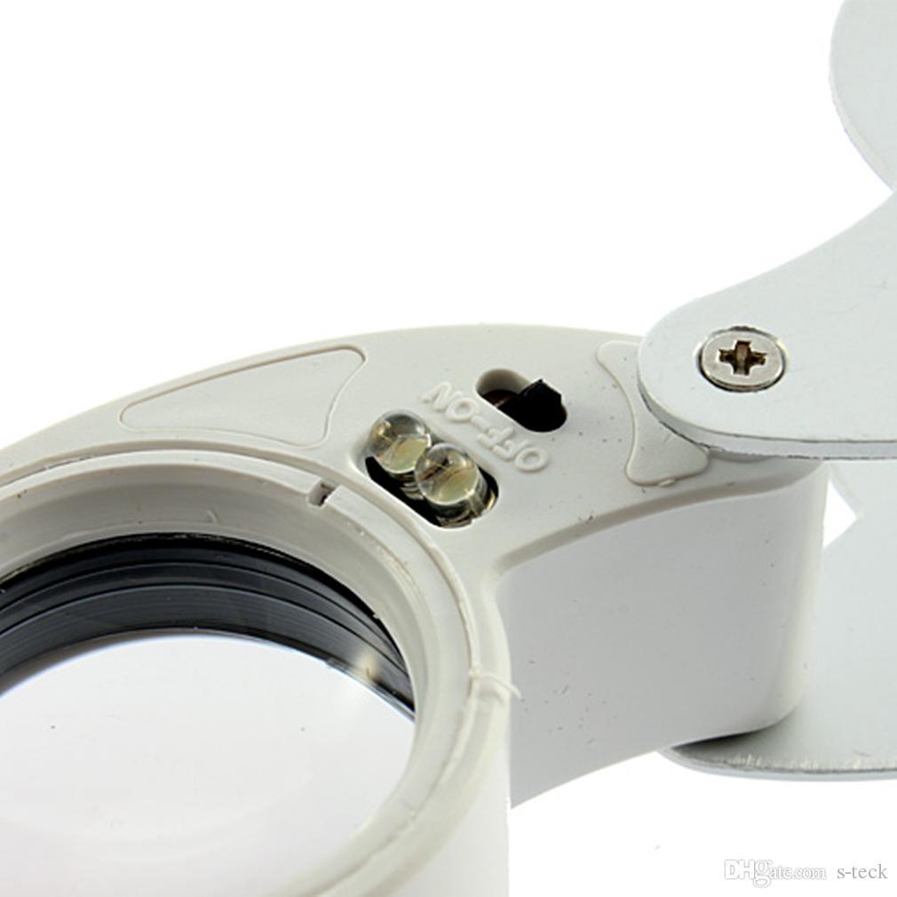 40X 25mm 파워 쥬얼러 루페 LED 루프 확대경 확대경 쥬얼리 도구 장비
