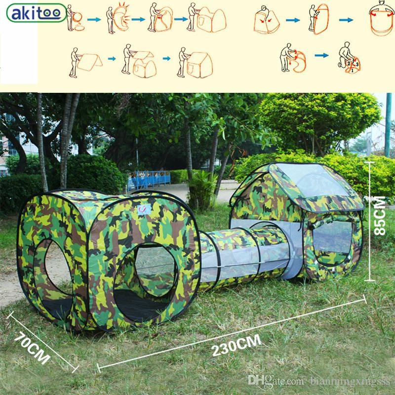 See larger image & 3 In 1 Camouflage Shuttle Toy Tent Tunnel Waterproof Baby ...