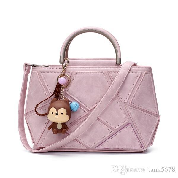 Luxury Black Pu Leather Handbag Women Bag Designer Handbags High ... d00bf61a3e16a