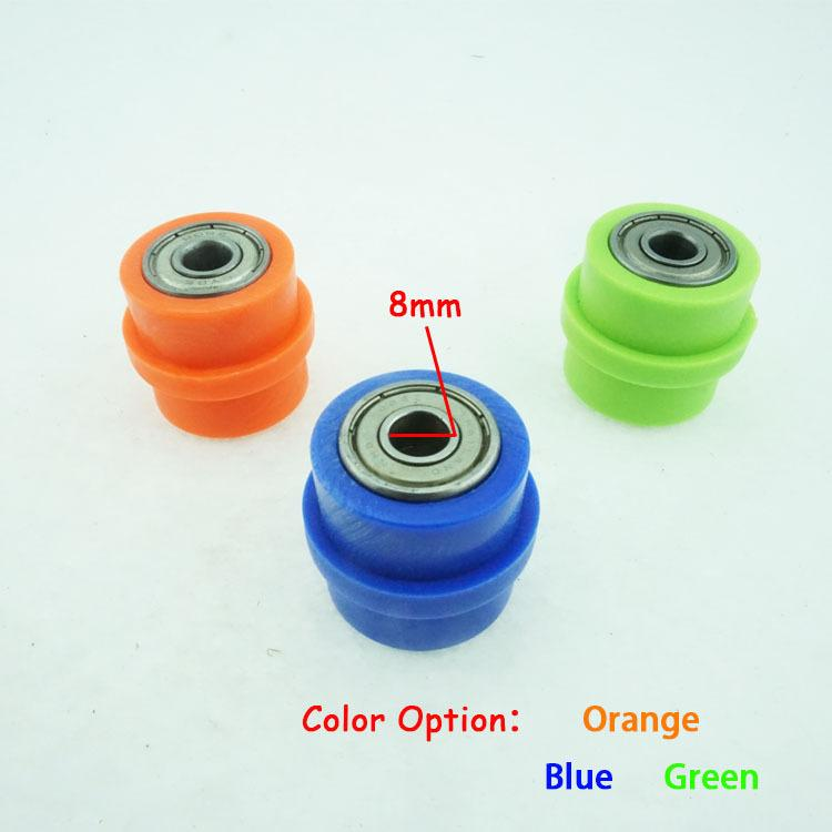 Wholesale- 8mm Chain Pulley Roller Chain Tensioner Pulley Wheel Guide For  Motorized Pit Bike Motorcycle Dirt Pit Bike Parts