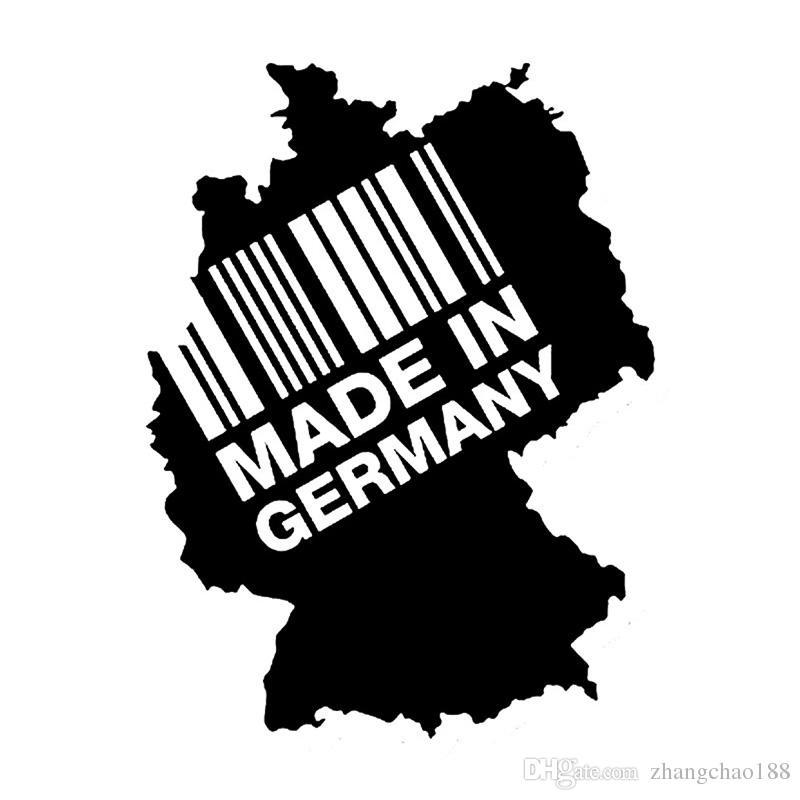 1 stück 15 cm * 11.25cm Kreative Auto Abziehbilder Made in Germany Contienten Barcode Mode Vinyl Aufkleber Autoaufkleber