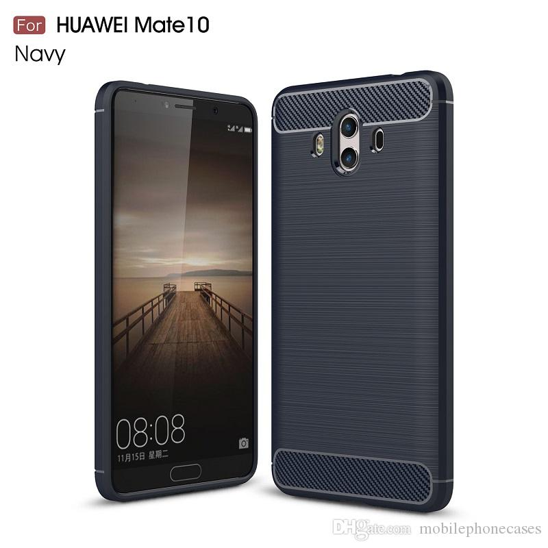 Cellphone Cases For Huawei Mate10 Carbon Fiber heavy duty shockproof armor case for huawei Mate10 2017 hot sale