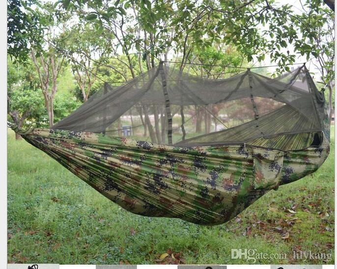 2018 portable parachute fabric double person camping camo hammock hanging bed with mosquito   sleeping hammocks for camping and hiking from lilykang     2018 portable parachute fabric double person camping camo hammock      rh   dhgate