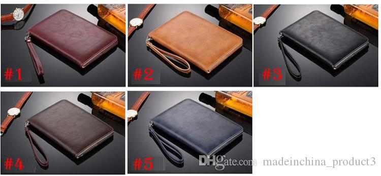 """For iPad Pro 10.5"""" 9.7"""" Luxury Leather Card Slots Stand Flip Case for iPad mini 4 Cover with Hand Belt Holder"""