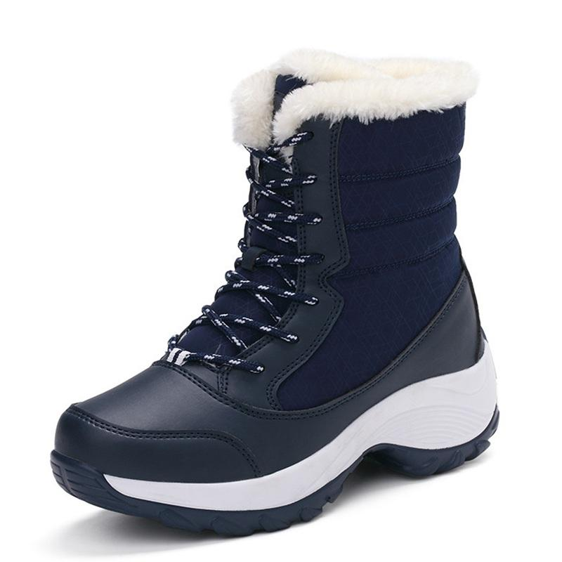 914f0f04ac3a91 Wholesale NEUDELI Hot Sale !!! Women Winter Boots Plus Thick Fur Warm Snow  Boots High Quality Lace Up Ankle Boots Female Winter Shoes Boots For Girls  Fur ...