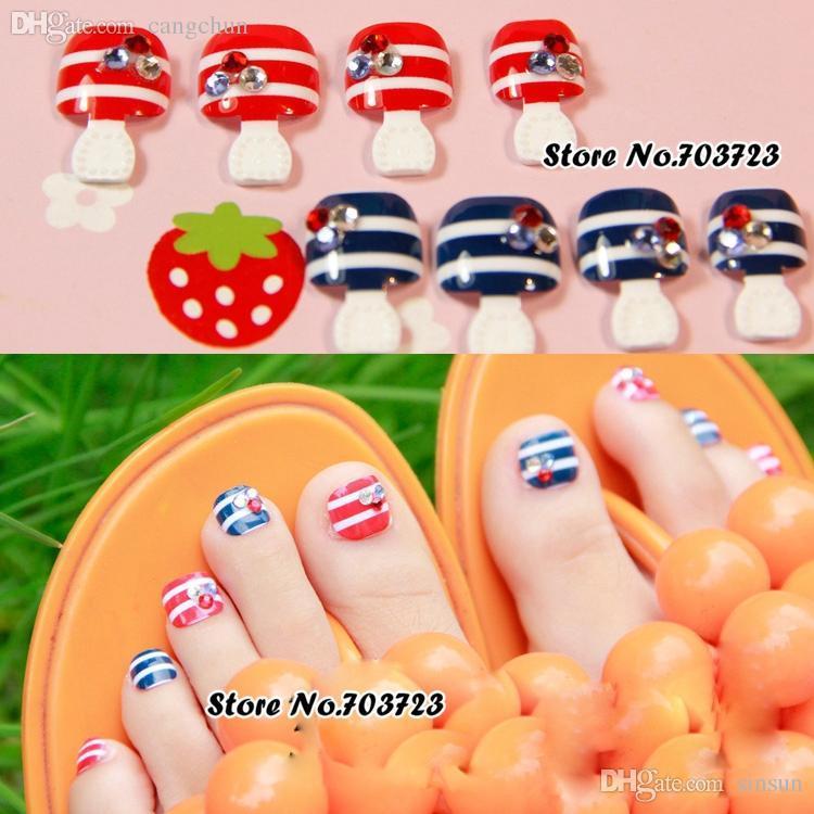 Wholesale 24x Nail Art Lover Artificial False Lady\'S Pre Design ...