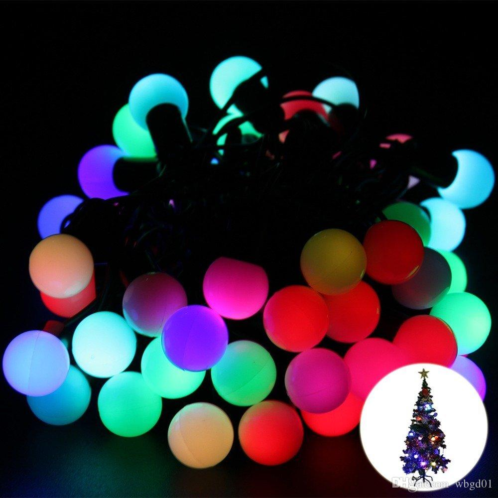 new year rgb 5m 50 led ball string christmas light partywedding decorationholiday lights buy string lights easter string lights from wbgd01