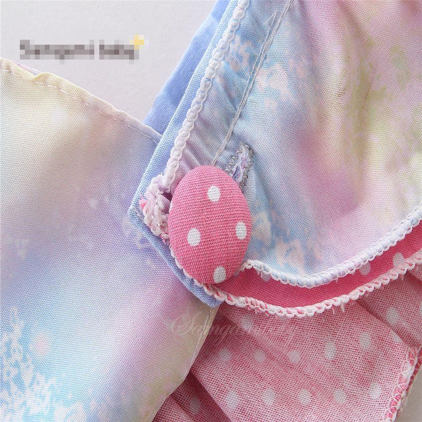 New baby INS roxo Céu Estrelado Macacão Menina em Rendas de Algodão voando manga estilingue romper roupas de bebê 0-2 anos A08