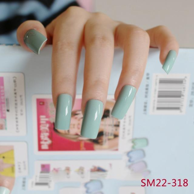 Wholesale /Pack Light Green Long False Nails Art Tip Acrylic ...