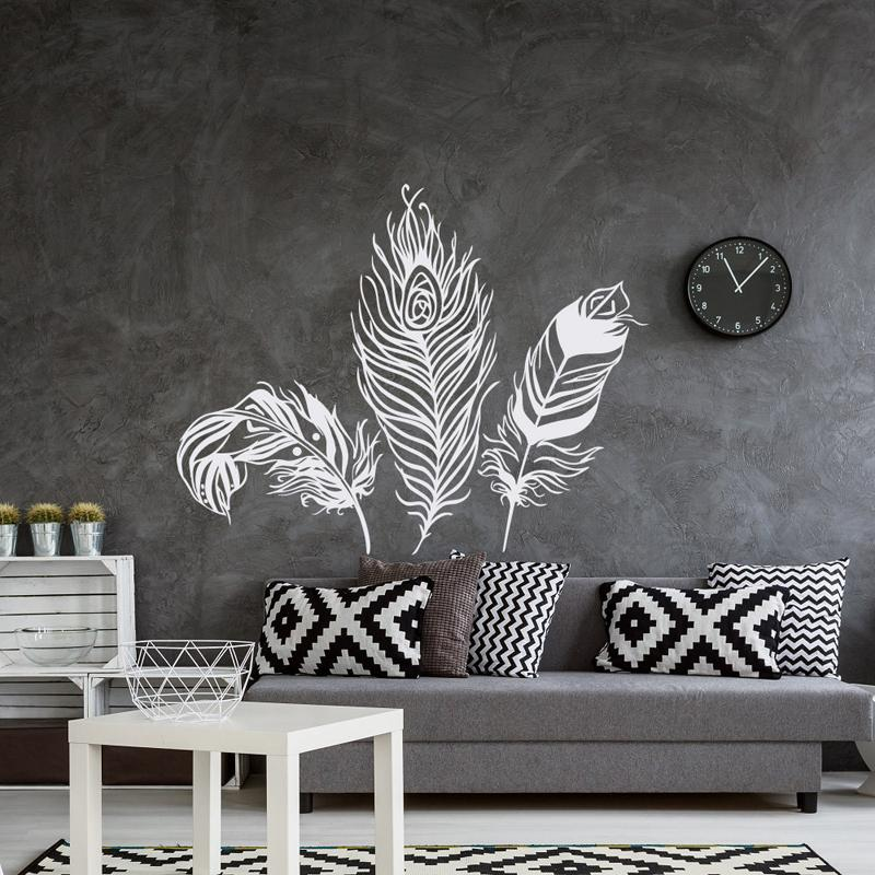 Feather Wall Decal Vinyl Wall Sticker Feathers Art Decals Tribal
