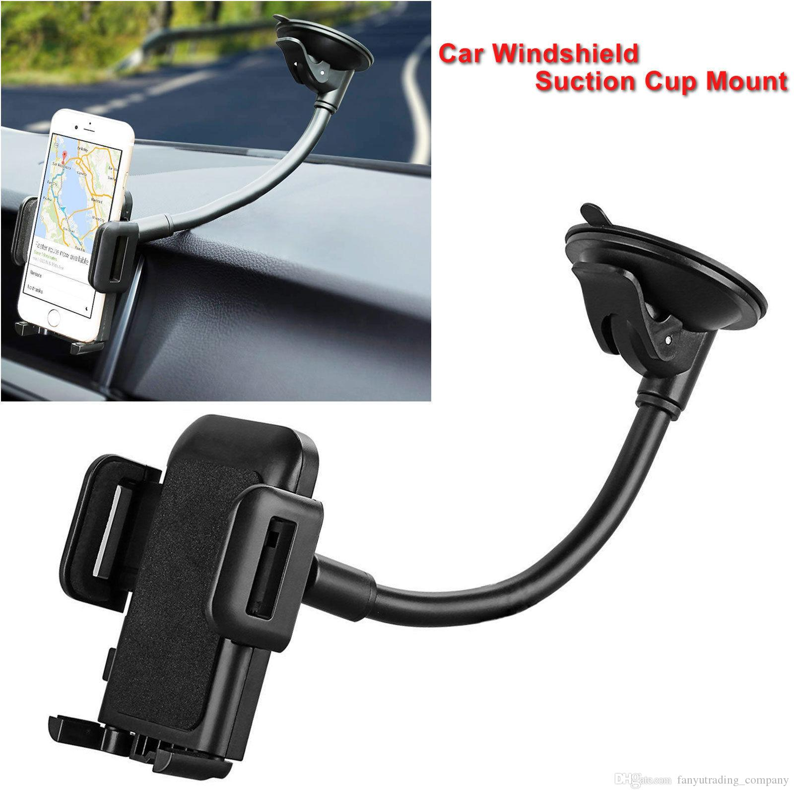 New 360 Degree Rotatable Suction Cup Swivel Mount Car Windshield Holder Stand Cradle For Cell Phone/iPhone/iPad/PDA/MP3/MP4 Free Shipp