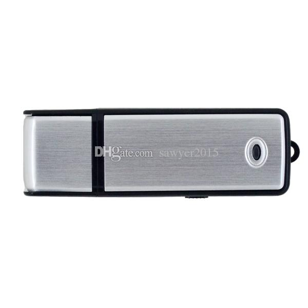 Mini USB Disk Audio Registratore vocale 4 / 8GB USB Flash Drive Registrazione Registratore vocale digitale Dictaphone Ricaricabile blu nero