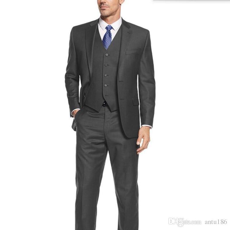 Hot sale men suits new design groom wedding suits tuxedos good quality best man party feast dress suitsjacket+pants+vest