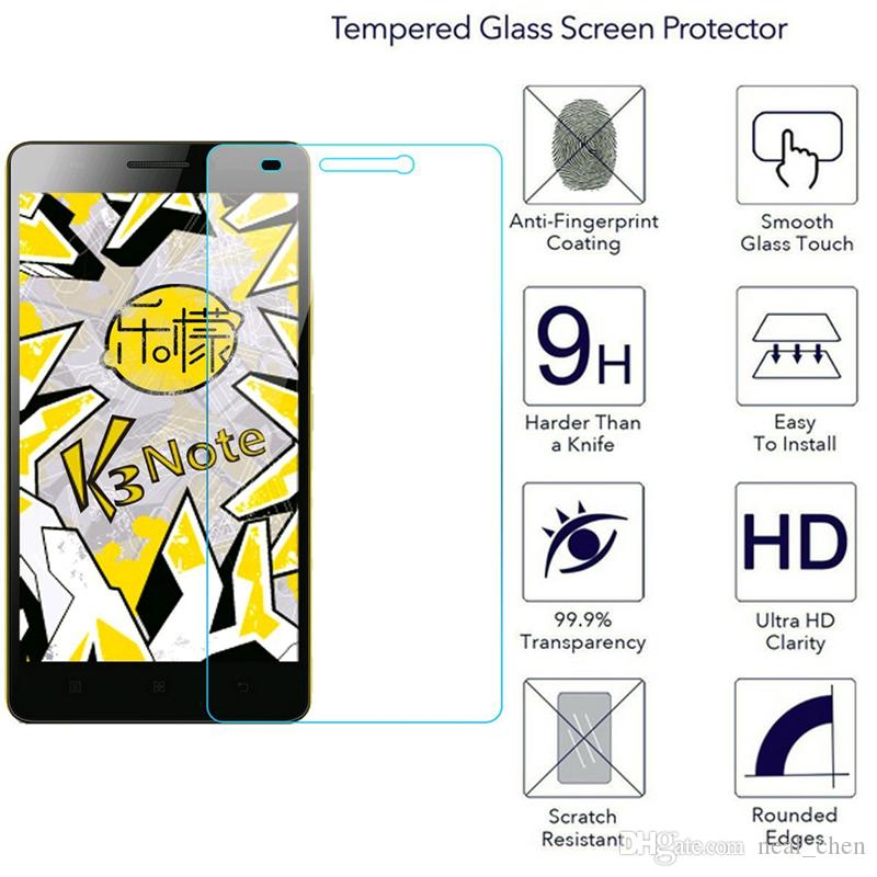 Tempered Glass Screen Protector Round Edge Protection from Bump Drop Scrapes Mark For Lenovo a2010 a319 a360t a3860 a536 k3 note A85 S650