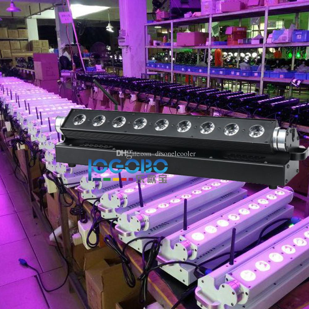 Cheap 9x15w RGBWA 5 in 1 Wireless Battery Powered DMX LED Wall Washer Light for Wedding Reception Party Decor Event DJ Uplighting