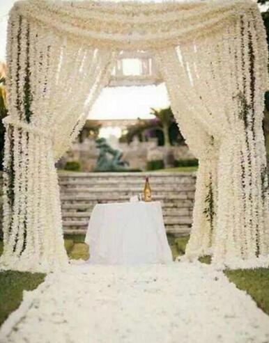 Artificial Hydrangea Wisteria Flower DIY Simulation Wedding Arch Door Home Wall Hanging Garland For Wedding Garden Decoration