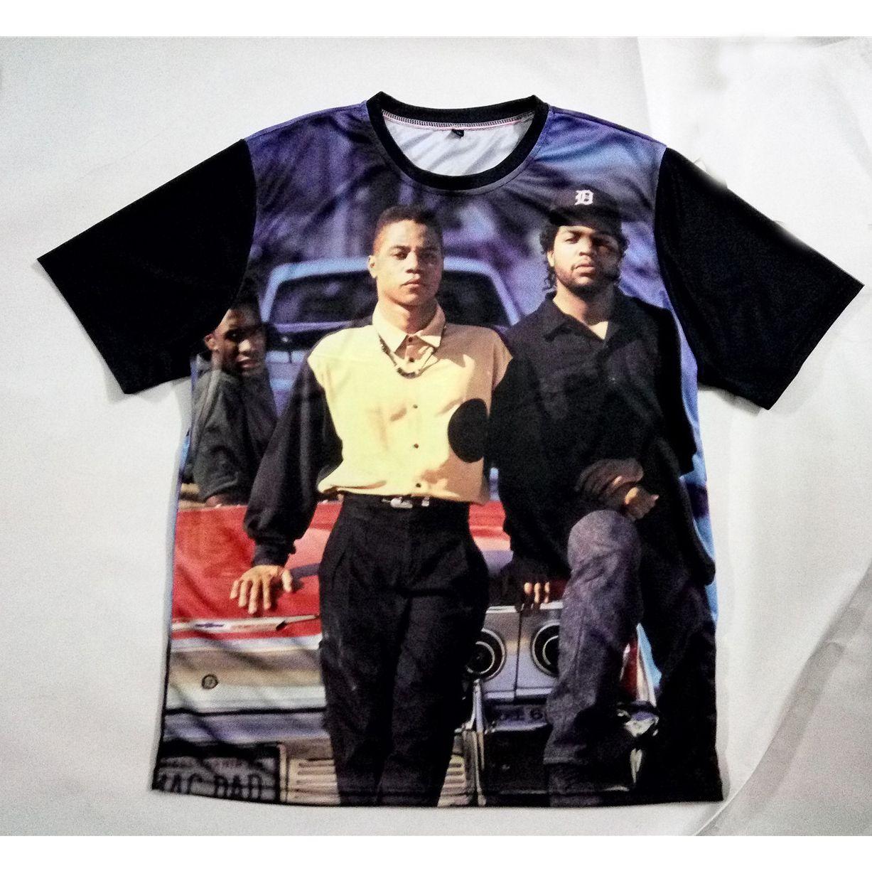 5f81c0ea Real USA Size Boyz N Da Hood 3D Sublimation Print Custom Made T ...