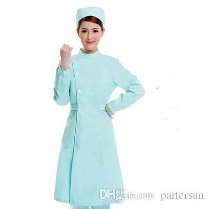 medical Doctor white long-sleeved dress nurse short sleeved uniform experiment under drugstore beauty salon work 187