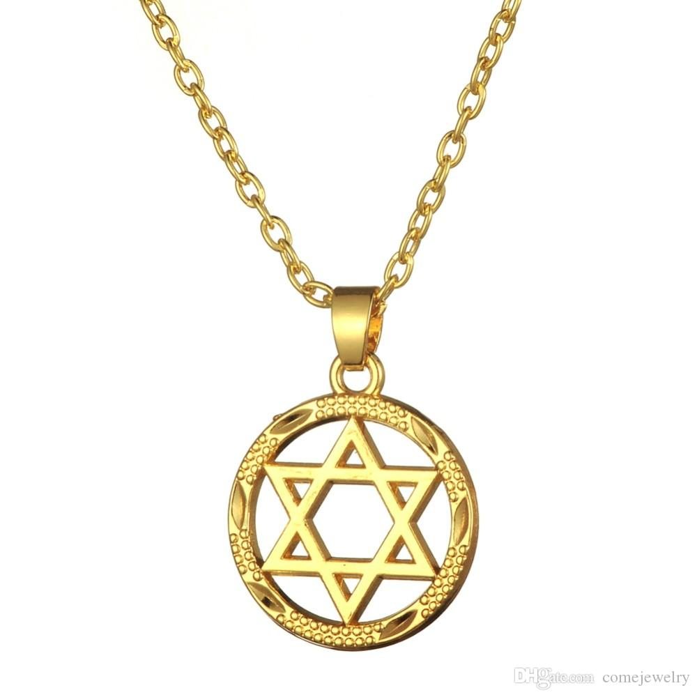 Wholesale yellow gold plated star of david jewish for Star of david jewelry wholesale
