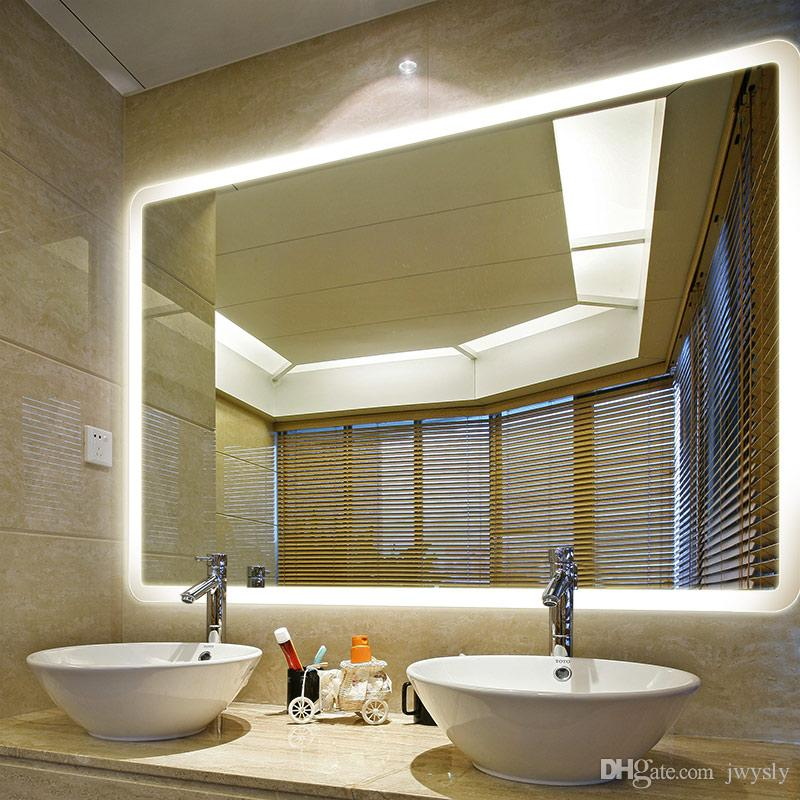 Lighted Bathroom Vanity Mirrors modern european style home decor bath mirror type led lighted