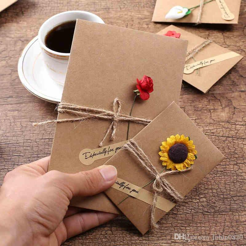 Vintage envelope diy retro envelope kraft paper flowers handmade vintage envelope diy retro envelope kraft paper flowers handmade postcard blessings greeting cards party supplies christmas card greetings christmas card mightylinksfo
