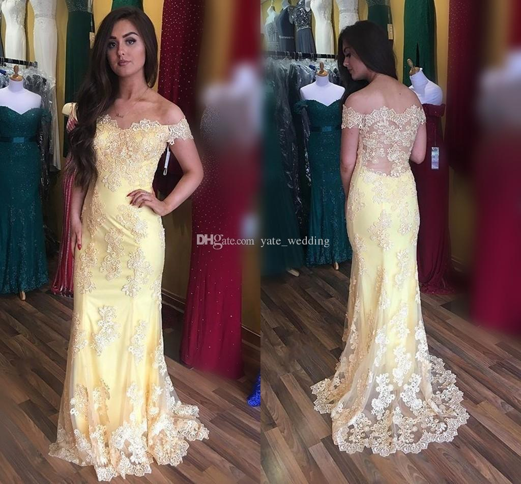 f9ef0fcb389e4 Light yellow lace mermaid evening dresses off shoulder appliques jpg  1024x950 Light yellow lace