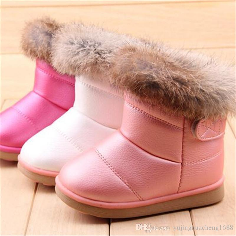 a86623d262eec 2018 New Cute Pink Baby Girls Martin Boots for 1-6 Years Old Children Shoes  Fashion Boots Kids Work Boots Hot 21-30 Snow Boots Online with  19.41 Piece  on ...