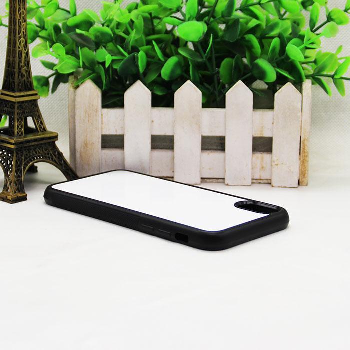 Venta al por mayor DIY de alta calidad en blanco sublimación TPU caja del teléfono celular de prensa de calor para iPhone 8 8 Plus iPhone X con placas de aluminio de metal