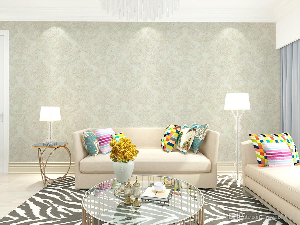 Wholesale Flower Wallpaper 3d Washable Damask Wall Paper Roll ...
