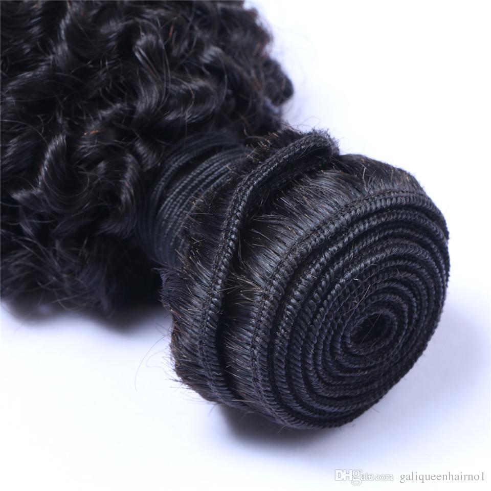 처리되지 않은 브라질 인간의 레미 버진 헤어 변태 곱슬 머리 헤어 확장 자연 색상 100g을 엮어 / 번들 더블 위사 3Bundles / 많은