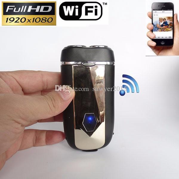 FULL HD 1080P electric Razor Camera Wireless Wifi shaver network IP P2P Camera build-in 8GB memory card with retail box