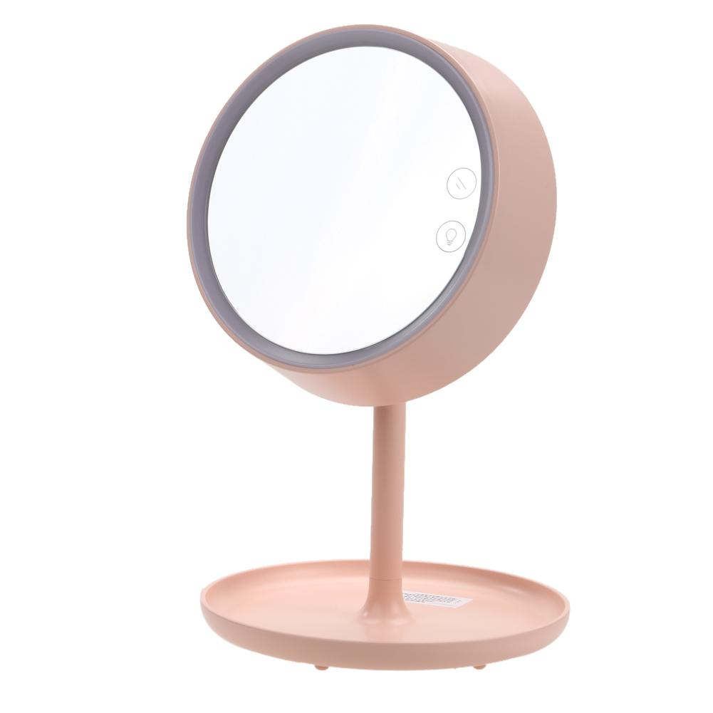 makeup light stand. professional makeup mirror with led light usb charging portable cosmetic table stand magnifying for bedroom large round cheap