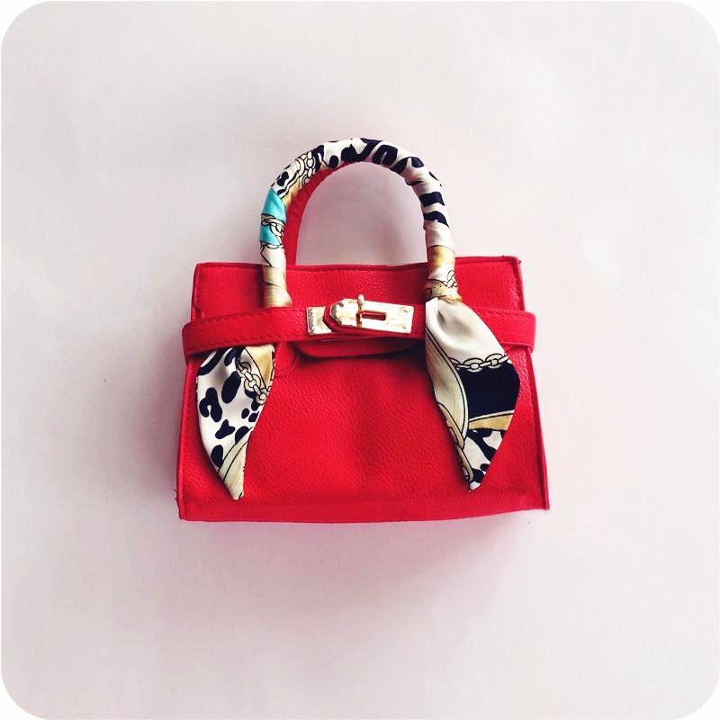 뉴 키즈 토트 백 스카프 세련된 아이 핸드백 디자이너 아이 여자 지갑 어깨 가방 패션 어린이 핸드백 미니 베이비 BAG 선물 CM002
