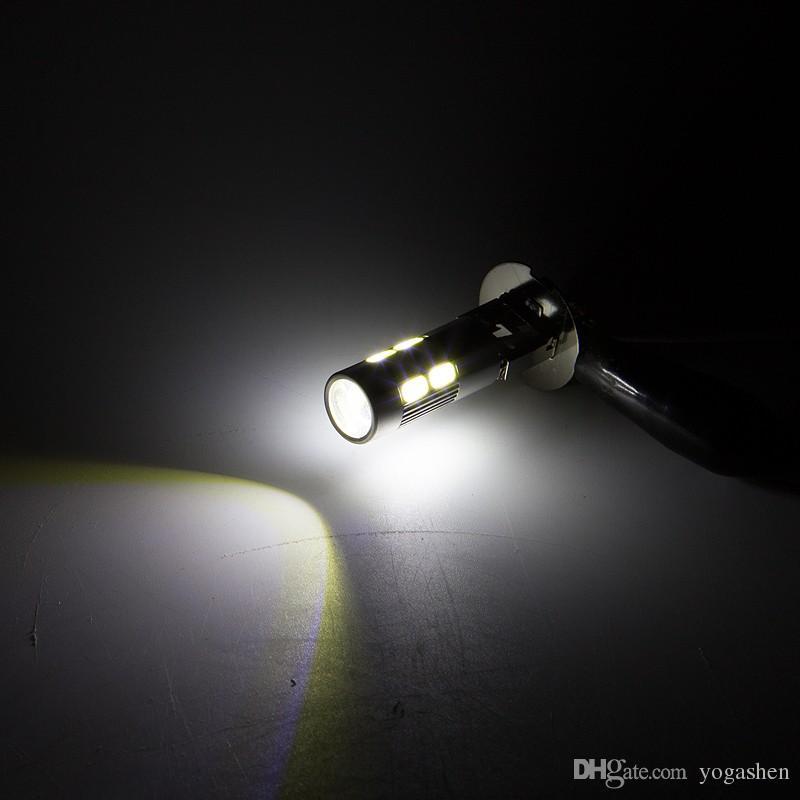H1 5630 White High Power 10LED Tail Turn Brake Head Car Light Lamp Bulb Fog Light Daytime Running Light 12V Motorcycle Lamps