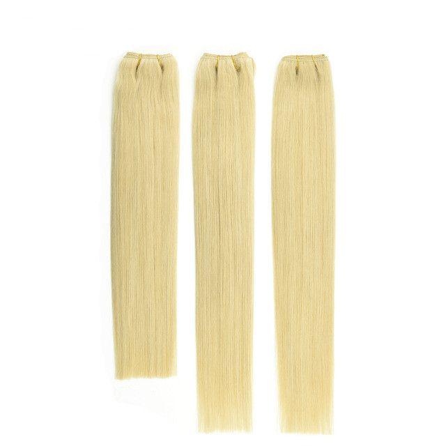 10A Qualità Grado Doppia Disegnato # 60 # 613 Biondo Brasiliano Diritta Capelli Umani 3 pz 80 g / pz Brasiliano Umano StraightHair Weave Bundles