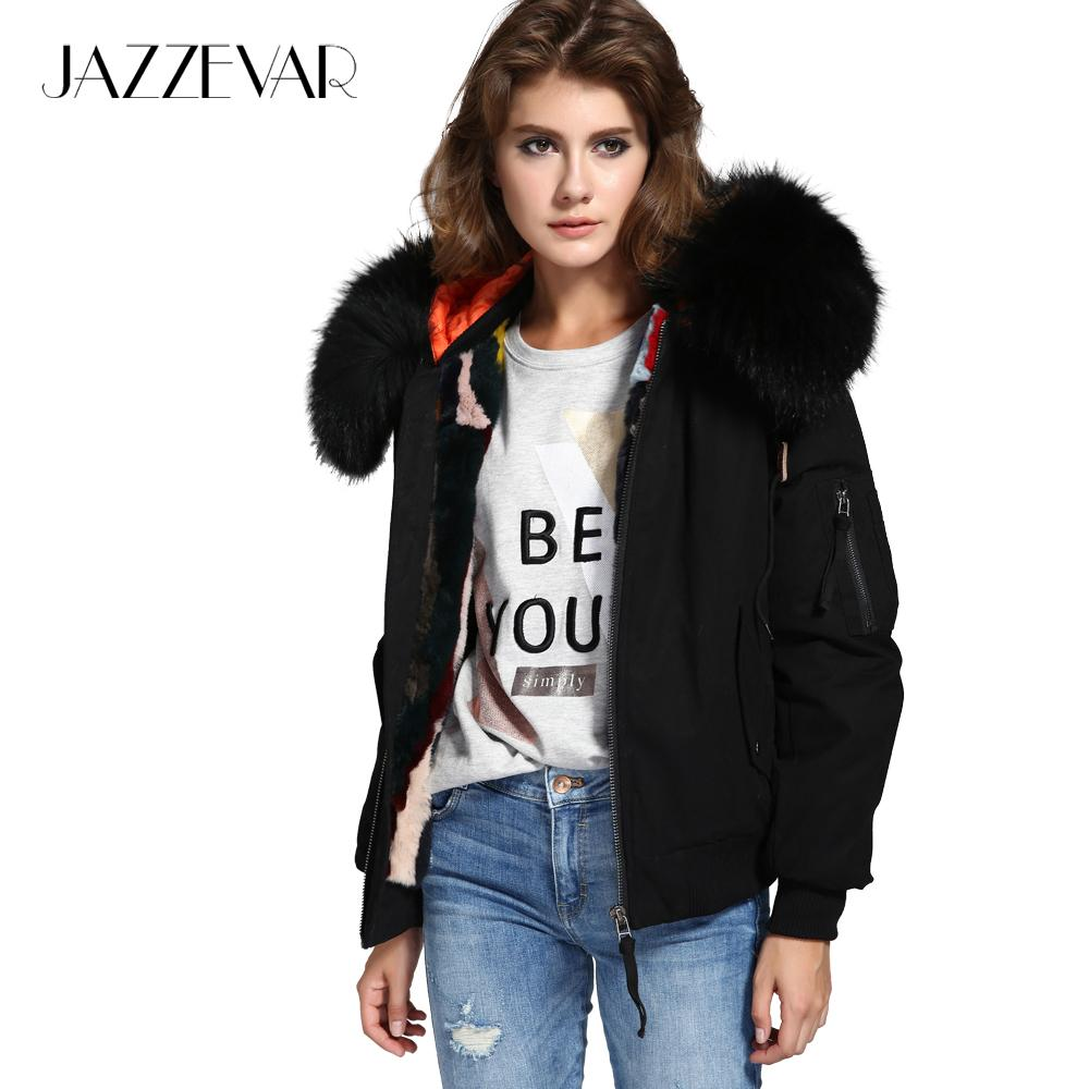 Jazzevar New High Fashion Street Woman Winter Jacket Female Worm ...