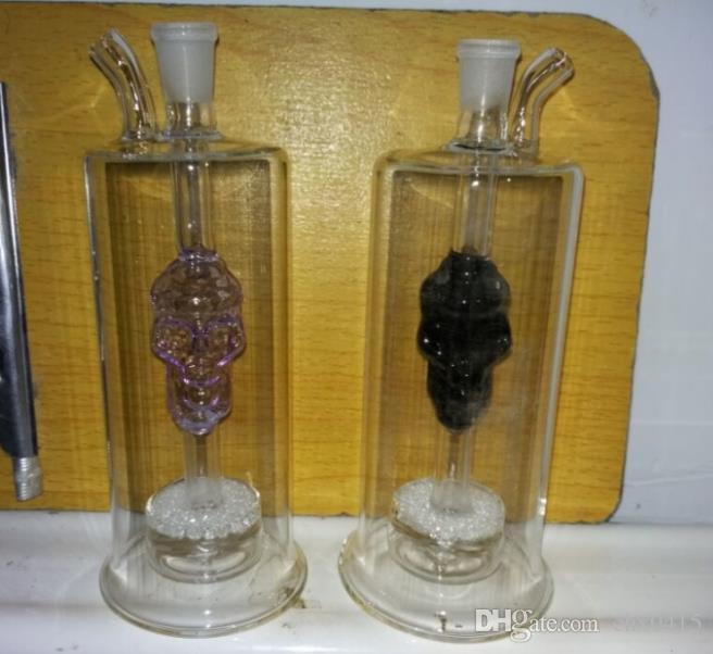 Doppelter Knochen bosch, Ölbrenner Glaspfeifen Wasserpfeifen Glaspfeife Oil Rigs Rauchen mit Pipette Glas Bongs Accesso
