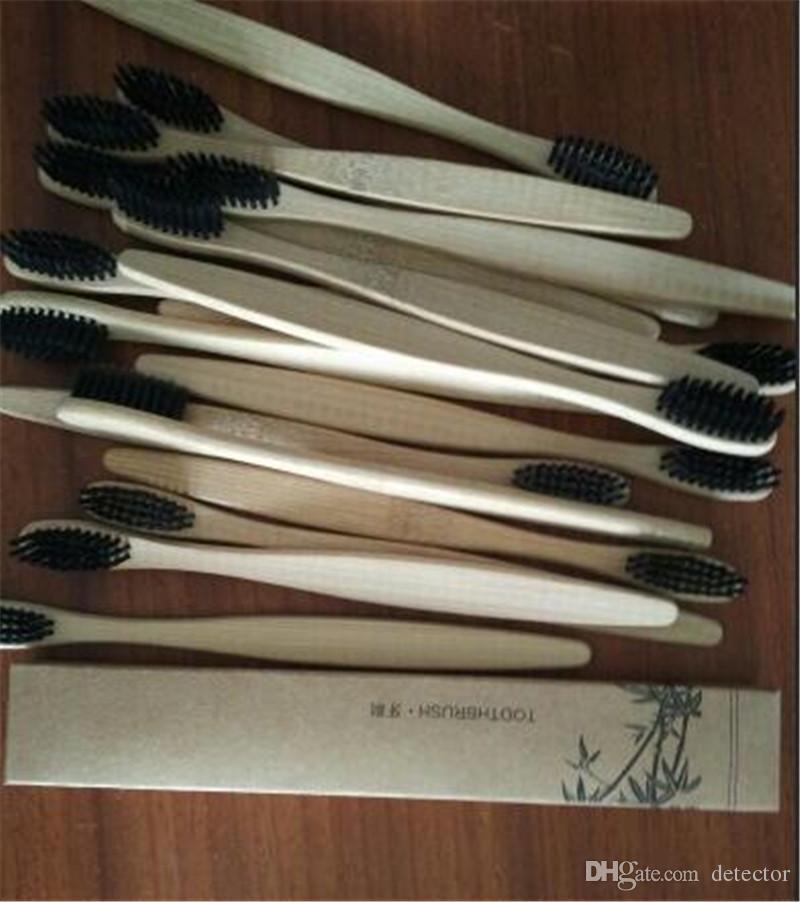 Personalizzato New Fashion Bamboo Spazzolino Crown EnvironmentaTongue Cleaner dentiera denti Kit da viaggio Spazzolino da denti MADE IN CINA SPEDIZIONE GRATUITA