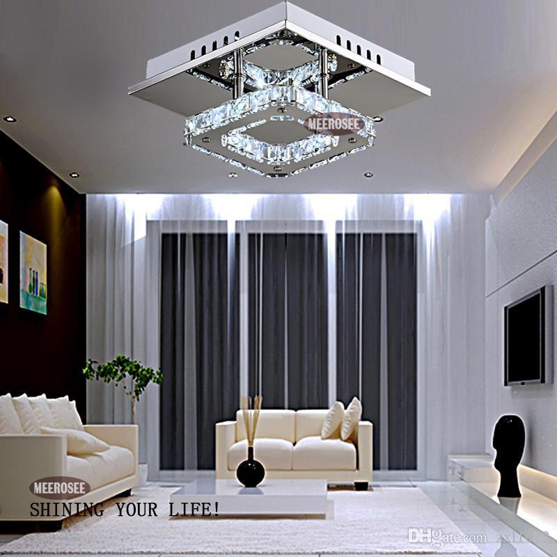 Freies Verschiffen moderne LED-Kristalllicht-Quadrat-Oberfläche brachte Lampen-Kristallleuchter-Deckenleuchte für Foyer-Wohnzimmer an