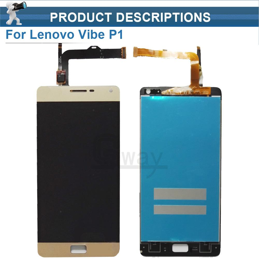 2018 Wholesale For Lenovo VIBE P1 LCD Screen Display Touch Panel Digitizer Assembly Parts Vibe P1c72 P1a42 P1c58 Turbo Pro Lcd From Jeha