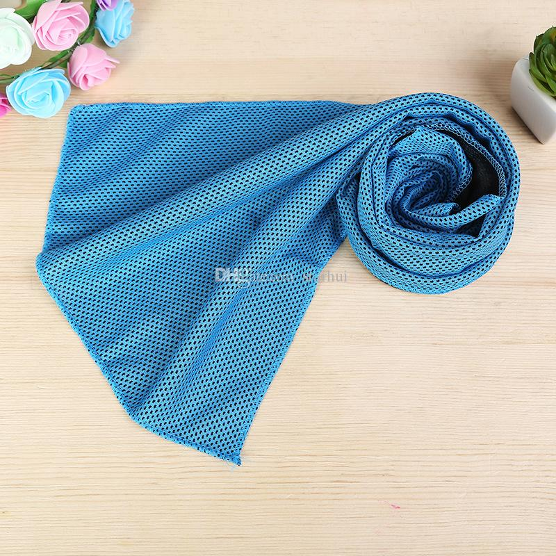 88 * 33 cm ice cold towel arrefecimento sunstroke verão esportes exercício fresco quick dry macio respirável toalha de refrigeração wx-t13