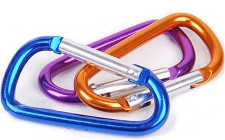 Porte-clés mousqueton Porte-clés Sport Mousqueton Camp Snap Clip Crochet Porte-clés Randonnée En Aluminium Pratique Randonnée Camping Clip Sur Porte-clés DHL